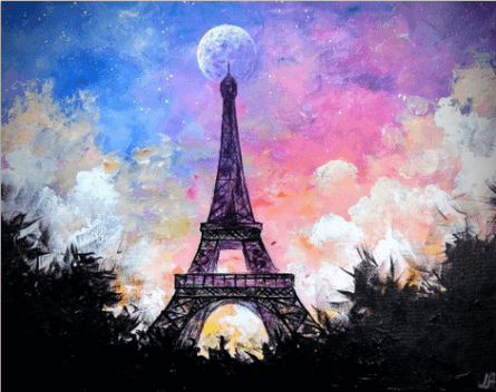 paint nite, paris lights