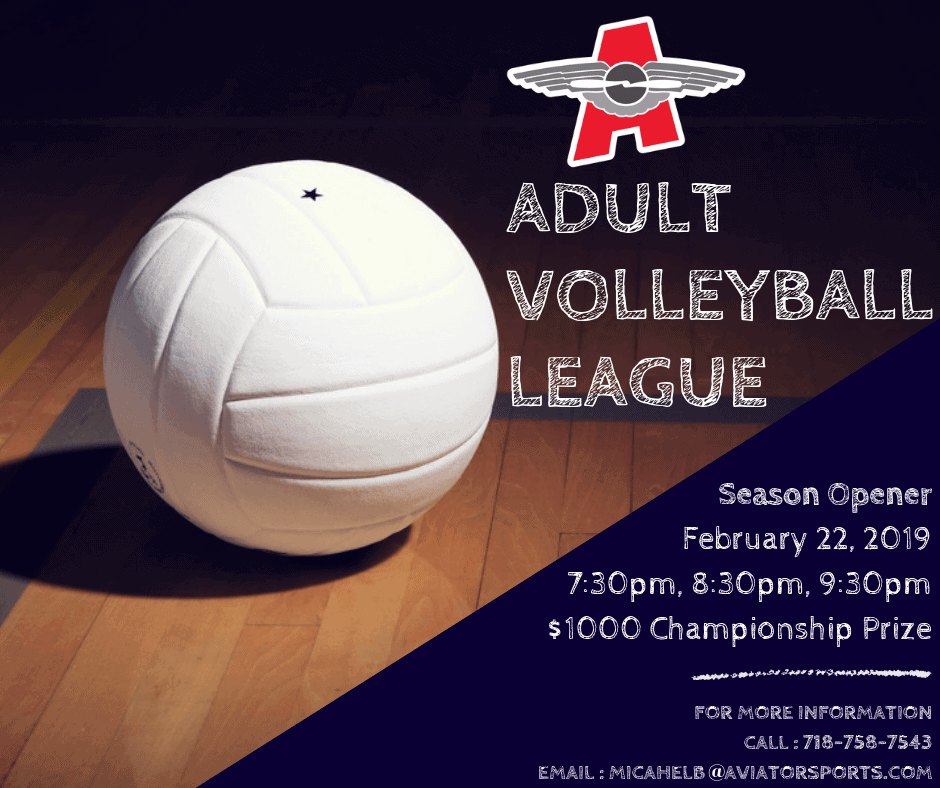 Adult Volleyball League Indoor Volleyball New York Aviator Sports