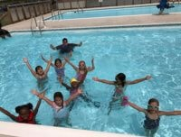 Summer Camp activities, summer camp swims, swimming