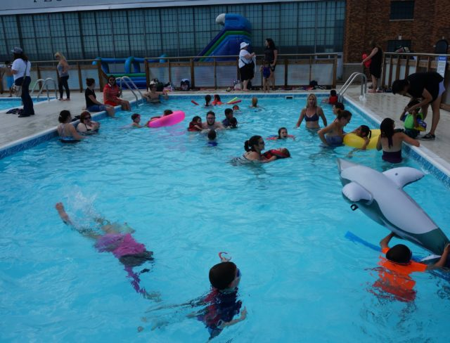 A kids pool party at Aviator in Brooklyn