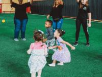 Party Places for Toddlers with big parachute