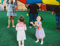 Toddler Parties with parachute