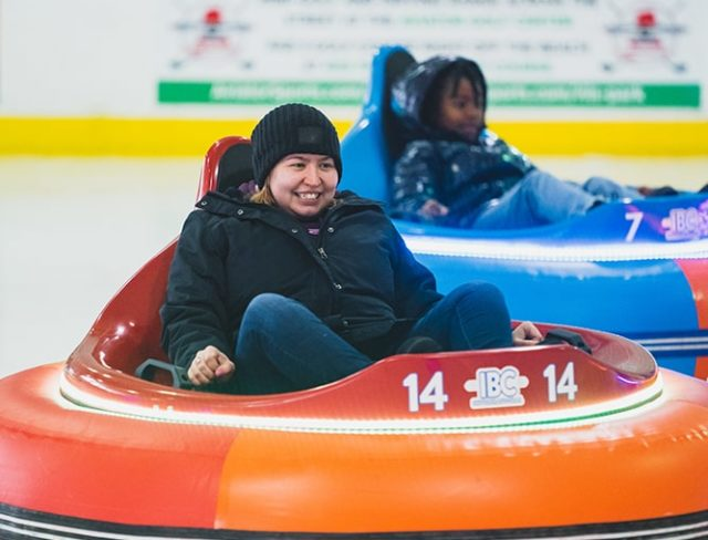 ice bumper cars in new york
