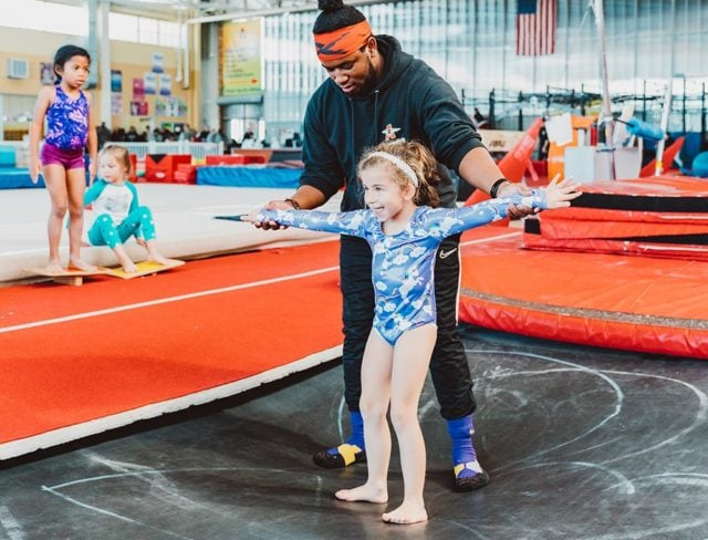 tumbling and trampoline class