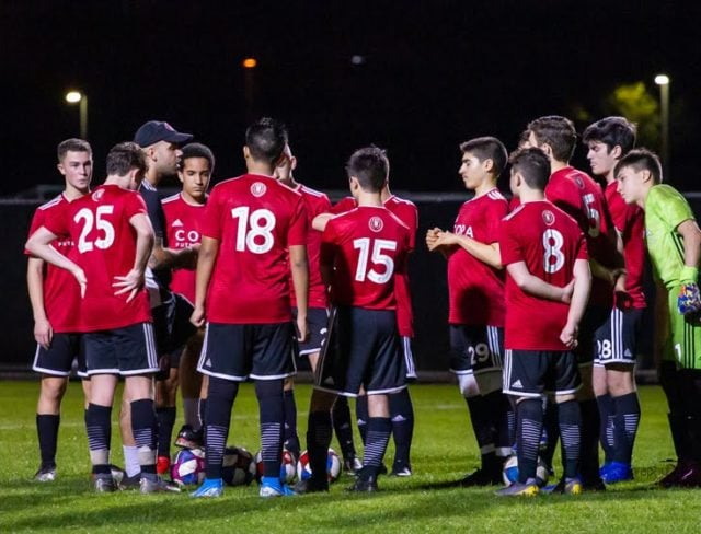 night game at aviator soccer club