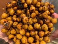 Garlic Ginger Crispy Chickpeas