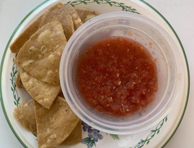 Fermented salsa snack